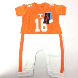 FAST ASLEEP LSU Tigers Away Baby NCAA Uniform Romper New